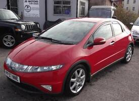 2008 (57) Honda Civic 1.8i-VTEC EX Red - Low Mileage
