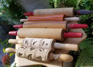 Solid Wood Vintage Bakers Pastry Rolling Pins Cakes Pizza Cakes