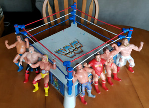 1980's vintage WWF wrestling ring and wrestlers lot