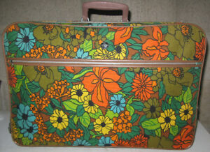 1960s / 70s Mod Floral Suitcase by Elpro