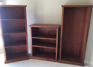 Mahogany book shelves
