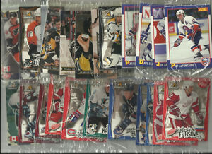 Lot de cartes hockey vedettes de collection