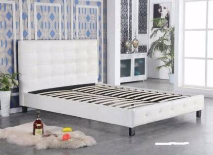modern pu leather double queen king size bed frame new - Cheap King Size Mattress