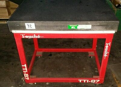Touche granite surface plate 3ft x 2ft x 4in tall on stand 34in tall