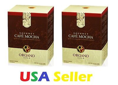 2 Boxes Organo Gold Cafe Mocha   Ships Expedite   Delivered In 1 3 Business Days