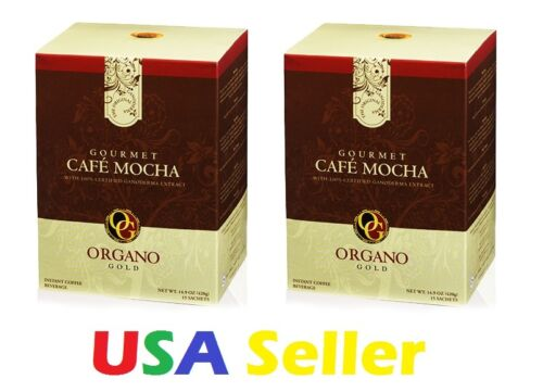 2 BOXES Organo Gold CAFE MOCHA - SHIPS EXPEDITE - Expired in 2/2023