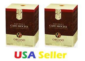 2 BOXES Organo Gold CAFE MOCHA - FRESH STOCK- EXP. 4/2021