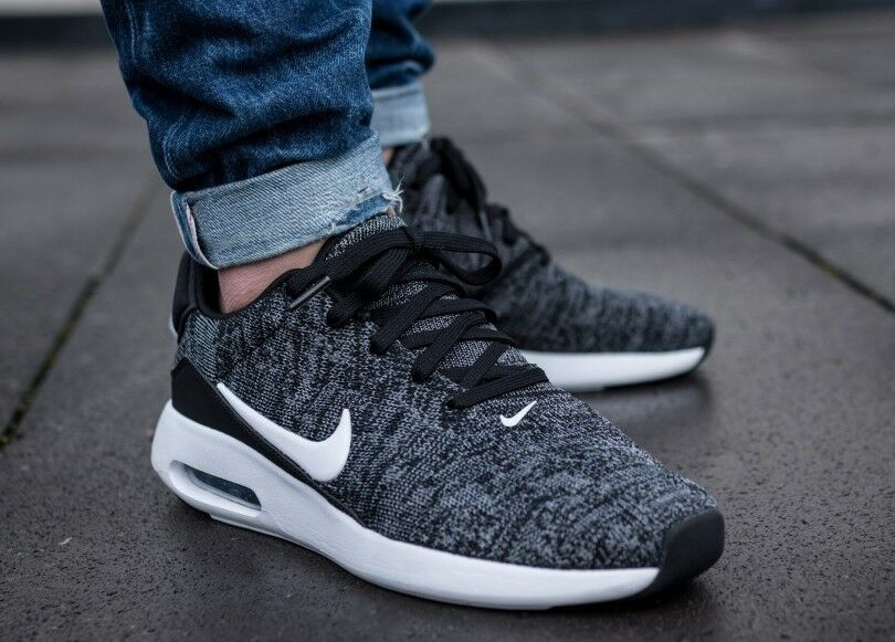 02774caeacd0 New NIKE Air Max Modern Flyknit Men s Sneakers black white gray sizes 10  10.5