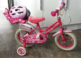 Girls kids Bike with stabilisers