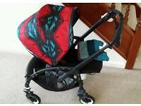 Beautiful Bugaboo Bee Plus black frame pendleton hood set pram stroller buggy pushchair