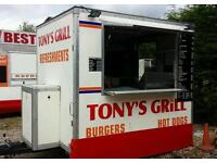 8ft x 6ft Catering trailer