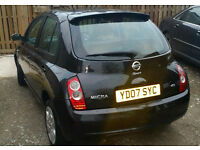 07' Nissan Micra 1.5 dci SPORT, diesel, 5 door,black drives well+economical yaris civic fiesta corsa