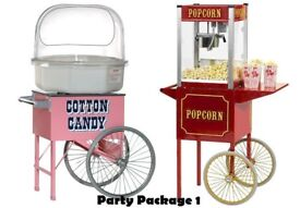 POPCORN & CANDY FLOSS for hire / Bouncy Castles / Sweet Carts + more / Essex & London