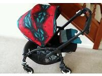 Bugaboo bee plus black frame pendleton pram pushchair buggy stroller