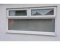 Upvc window with blinds 850hx1800w