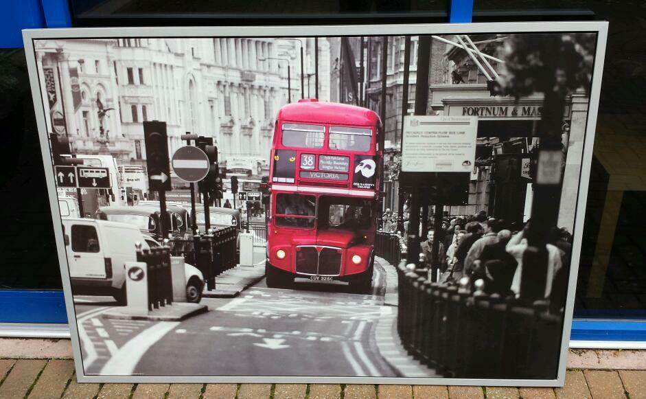 Ikea London Bus Canvas 55 Quot X39 Quot 140cmx100cm Large Picture