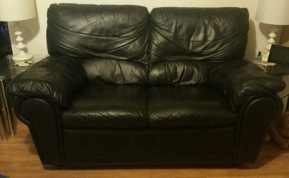 seater black leather sofa for sale united kingdom gumtree