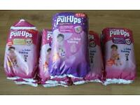 Huggies Pull Ups girls large - 10 packs for £15