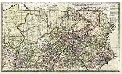 1797 PA MAP Adamstown Albion Almedia Apollo Atglen Avis History Brooklyn SURNAME