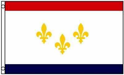 New Orleans Louisiana Flag Polyester 3 x 5 Foot 3x5 Mardi Gras Fleur de Lis