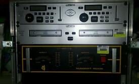 Sound system equipment amp and cd mixer