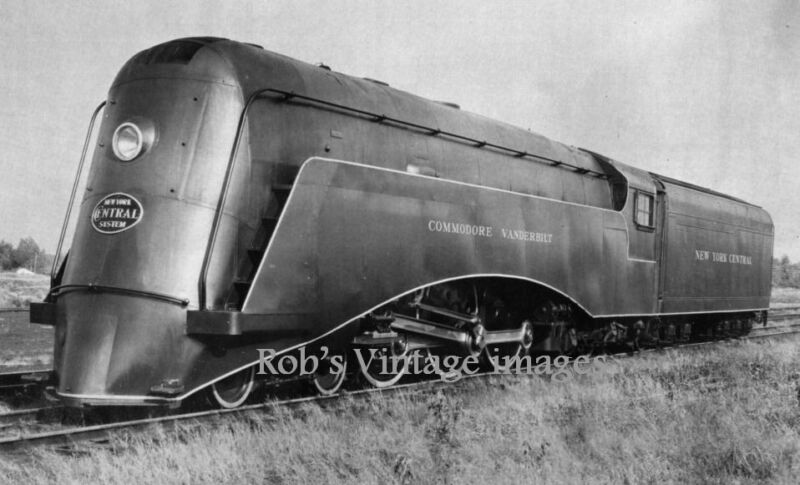 New York Central Commodore Vanderbilt Streamline Steam Train  photo print 1938
