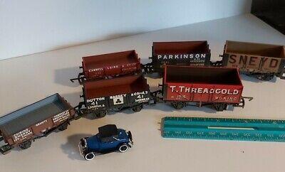 Six (6) Hornby OO scale coal wagons weathered