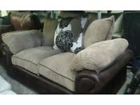 Ex display 2 seater sofa with scatter chusions only £135