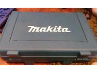 Makita cordless hammer drill box with charger