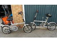 Fold away bike