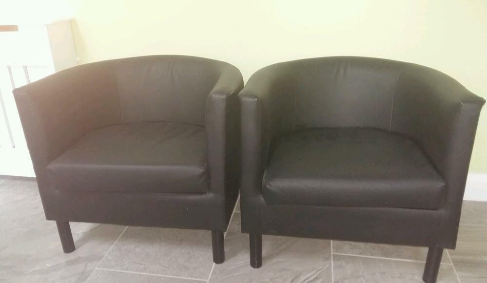 Black Leather Tub Chairs In Dunmurry Belfast Gumtree