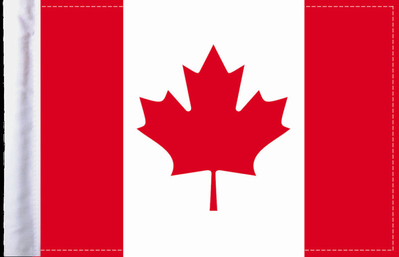 Canadian National Flag - Canada - 6x9 Motorcycle Flag - Quality Made in the USA
