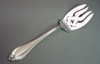 Perlen Serving Fork (LA PERLE - REED&BARTON STERLING COLD MEAT SERVING FORK)