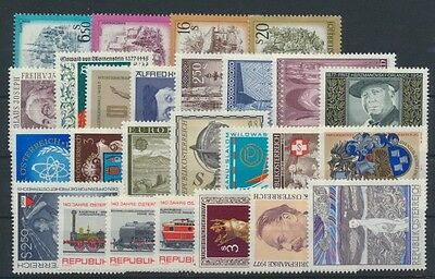 Österreich Jahrgang 1977 postfrisch in den Hauptnummern kompl...................