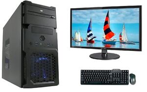 gamer pc game komplett Set mit monitor TFT Computer Rechner AMD A4 6300 8GB RAM