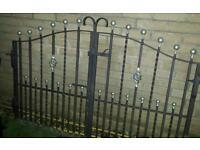 Heavy double iron garden gates top quality galvanised