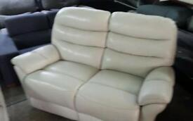 Ex display real leather electric reclining 2 seater sofa only £190