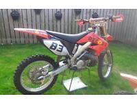 2006 Honda 250 motorcross bike
