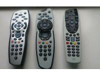 Sky remote controls.