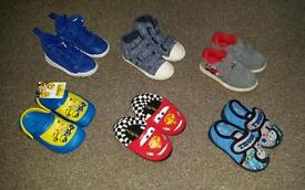 bundle of new and used infant boys size 6 shoes