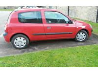 RENAULT CLIO 1.5 DCI 2004. £30 A YEAR ROAD TAX