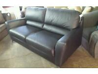 Designer real leather 3 seater sofa brand new only £180