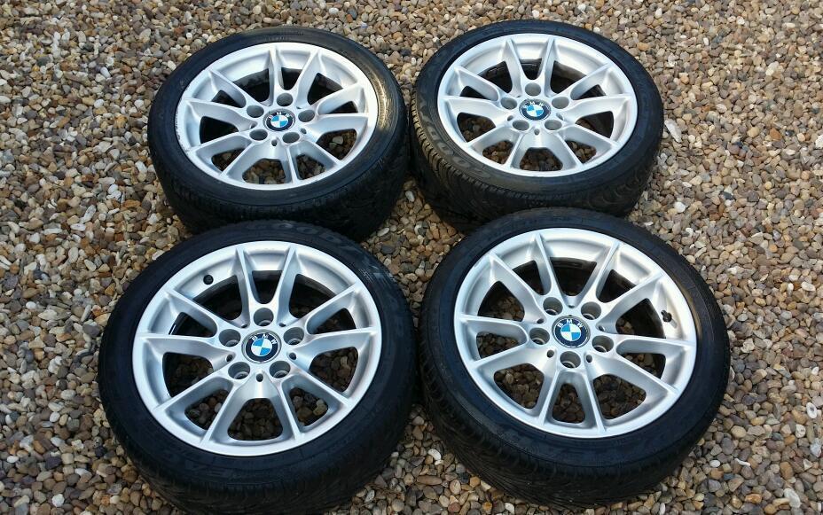 GENUINE BMW 1 SERIES ALLOYS LA V SPOKE 378 F20 WHEELS AND TYRES   in ...
