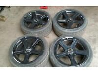 "18"" alloy wheels mercedes vw t4 t25 5x 112 pcd"