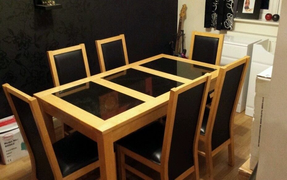Dining Table Granite And 4 Leather Buy Sale And Trade Ads