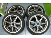 "Made in Japan 17"" 4x108 split rim style alloys Ford Citreon Peugeot"