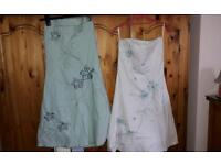 2 strapless Jane Norman dresses size 10