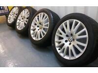 "Genuine oem VW Golf MK5 gttdi 17"" alloy wheels 5x112 Audi Seat Skoda VAG"