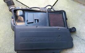ford fiesta st150 air box with K &N filter induction