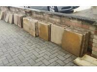 Used garden slabs